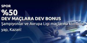 Bahisnow Avrupa Ligi Bonusları